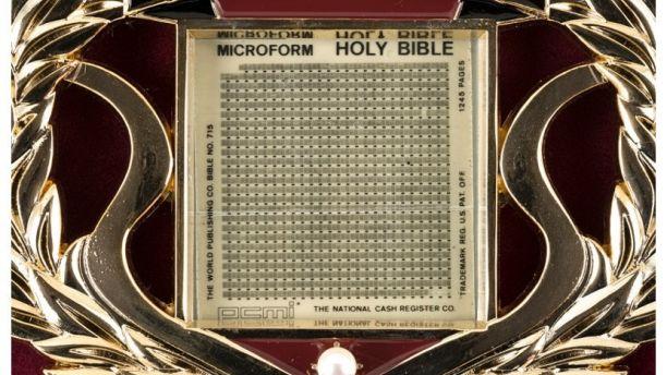 Библию из космоса выставили на продажу