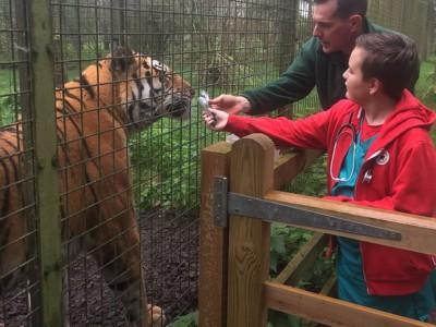 Харрисон Чурли в зоопарке