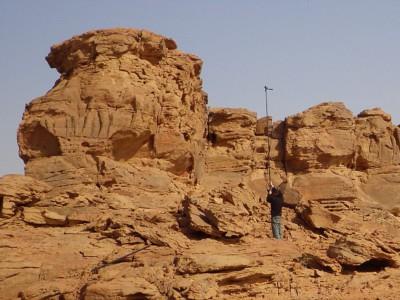 Наскальный верблюд в пустыне Саудовской Аравии
