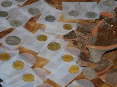 Обнаруженные монеты