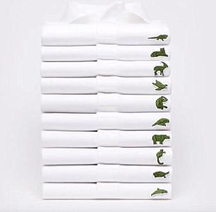 Новые логотипы рубашек от Lacoste