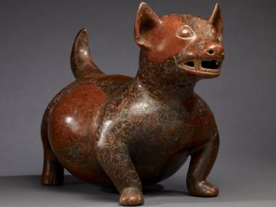 Статуэтка собаки времен майя