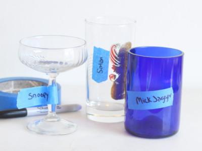 Подписанные бокалы для вечеринки