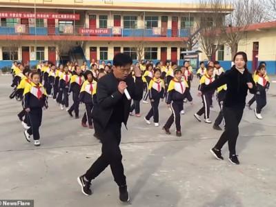 Призрачный шаффл в китайской школе